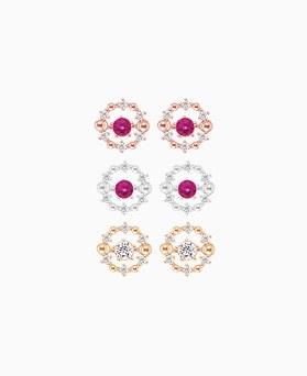 1046174 - <ER1447_IH13> [Silver Post] Dancing queen cubic earrings