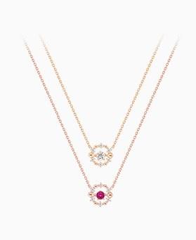 1046175 - <NE439_IH13> Dancing queen cubic necklace