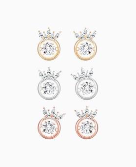 1046216 - <ER1448_IG14> [KBS2 secret man's secret support] [Silver Post] tiara dancing cubic earrings