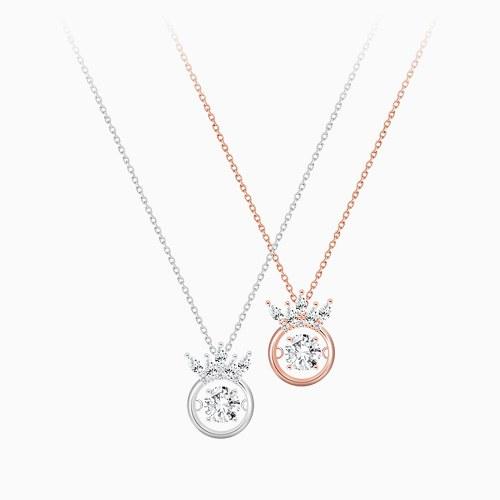 1046217 - <NE440_IG14> tiara dancing cubic necklace