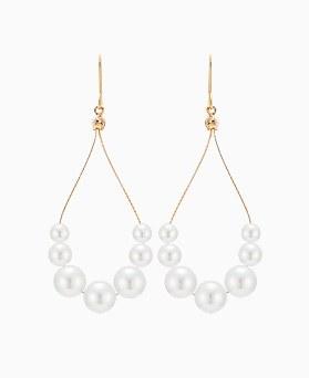 1046369 - <ER1505_DJ03> [spring] tear pearl line earrings