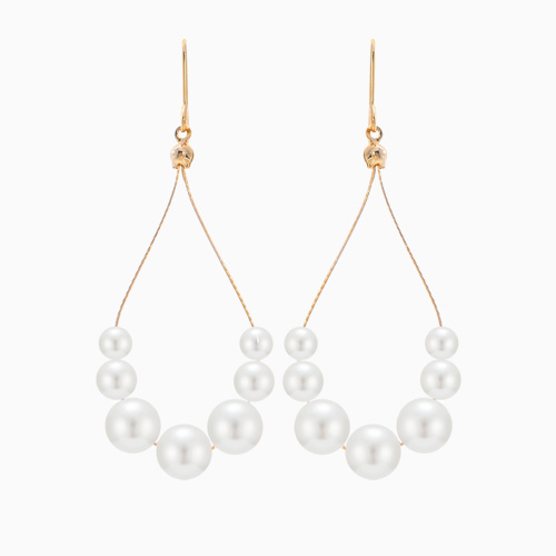 1046369 - <ER1505_DJ03> [spring] tear pearl line earrings