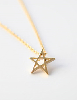 224433 - <NE091-IA02> [Silver] Mini bright star necklace