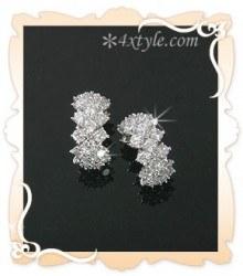 427 - <JS037-IG19> Zirconia Luxury chain earrings