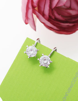 227095 - <PC091-S> [Out of stock] [clip type] zircon cutting earrings