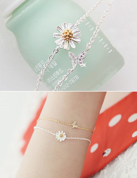 227234 - <SL203-HD18> [Silver] girls day bracelet