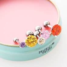227263 - <ER336-GK21/24> [4Size, one pair sale] one cubic piercing