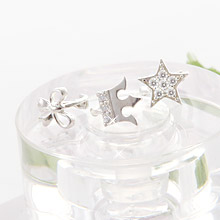227423 - <SL355-JB09> [Best love KooAeJeong] [Silver] cubic series ring (earflaps) earrings