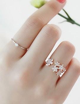 227698 - <RI162-S> Flower dressing ring