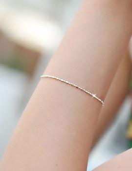 228302 - <SL353-BE08> [Silver] mild sausage chain bracelet