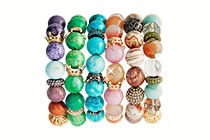 228994 - <BC126-HC19> [high quality] howl & agate gemstone bracelet