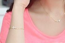 229191 - [Same day shipping] [SALE] [vine] [you] Cha Yoon-hee [Silver] vine cross bracelet