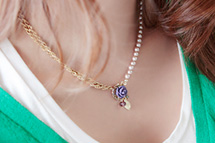 229320 - <JS055-S> [SOLD OUT imminent] Sabrina rose necklace