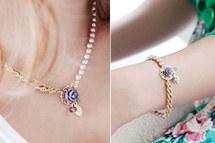 229321 - <JS055-IG03> [bracelet + necklace] Sabrina rose set