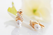 229723 - <PC108-S> [Out of stock] [clip type] cubic & pearl Harmony earrings