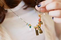 229739 - <NE082-BA02> Animal farm long necklace