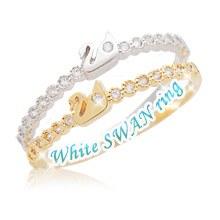 229994 - <RI140-JA03> [little finger for both] white swan ring