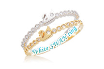 229994 - <RI140-JA03> [little finger for both] white swan ring