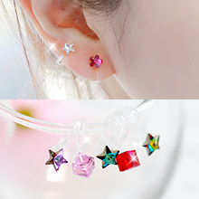 229998 - <PC131-GJ25> [clip type] star chorus earrings