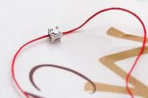 10817 - <BC200-S> Silk chain round cubic bracelet [Silver] silk chain round cubic bracelet