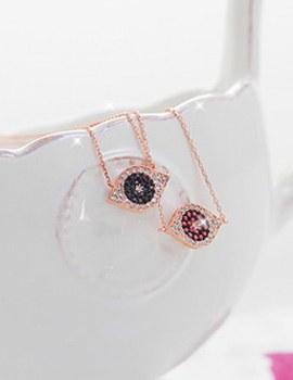 230038 - <SL280-IE01> [Cheongdam-dong Alice Seoyunju] [Silver] iolite Evil eye necklace