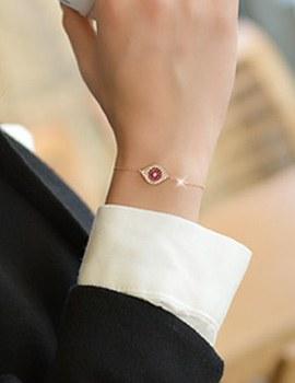 230039 - <SL280-IE01> [Cheongdam-dong Alice Seoyunju] [Silver] iolite evil eye bracelet
