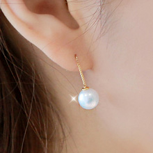 230231 - <SL399-CH23/24> [Winter, the wind blows Oh Young] [Silver] innocence pearl earrings