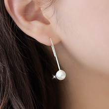 230245 - <SL305-BD06> [Winter, the wind blows Oh Young] [Silver] mystic pearl drop earrings