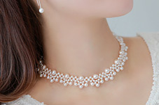 230293 - <NE052-BC16> Like a hepburn choker pearl necklace