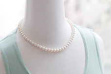 230458 - <NE006-BC17> [A grade nuclear pearl] 7mm pearl necklace