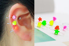 231323 - <PC133-S> [Out of stock] [clip type] [sale of a pair] Neon chorus earrings