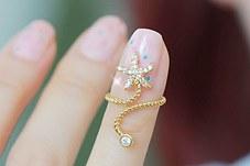 231443 - <RI068-AD14/15> point nail ring