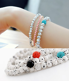 231549 - <BC184A> Dalmatian gemstone bracelet