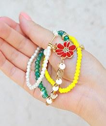 231572 - <BC083-HC08> beach Flower bracelet