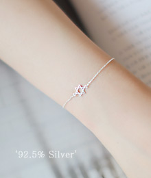 231575 - <SL035-S> [Sold out] [Silver] once a star bracelet