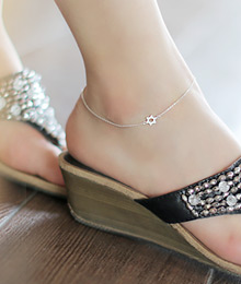 231576 - <SL036-S> [Sold out] [Silver] once a star anklet