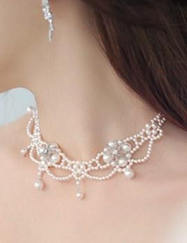 232027 - <NE051-BA03> Ju Dress pearl necklace