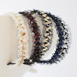 232041 - <HA230A-A> Spangle & lace hairband