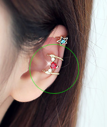 232050 - <EC031-S> heart wing ear cuff