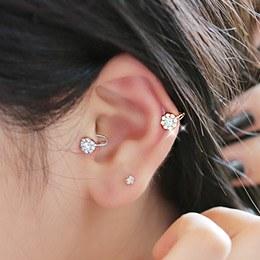 232084 - <EC032-CA06> bijou Flower tragus & ear cuff