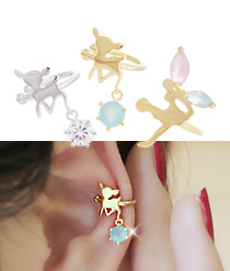 232090 - <EC033-CC11> pastel bambi & angel ear cuff