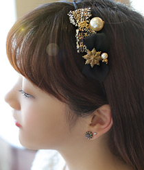 232098 - <HA121-EB08> [pin & band] ribbon Coco Hair Item