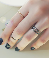 232102 - <RI032-S> [Immediate out of stock] [3Piece 1set] vintage day ring