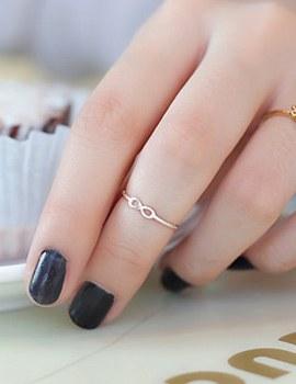 232103 - <SL028-JG06> [Silver] infinity slim ring