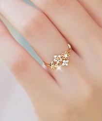 232107 - <RI033-AC16> day flower dream ring