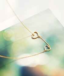 232109 - <SL027-S> [Sold Out Immediately] [Silver] Ever heart line necklace