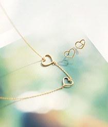 232110 - <SL026-BD07> [Silver] Ever heart line set