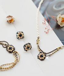 232188 - <JS057-IF02> [earrings + necklace + bracelet] ladies' imagination set