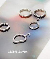 232470 - <SL417A> [Choose future Na Mi-rae] [Silver] honey dew ring