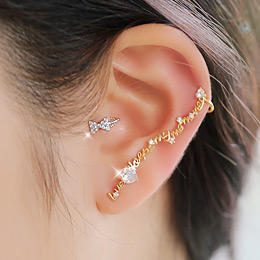232643 - <EC036-S> [Immediate out of stock] Mini ribbon tragus & ear cuff